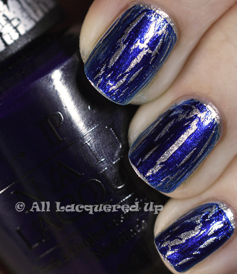 sonia kashuk smoke and mirrors opi navy shatter swatch nail polish 365 of Untrieds   Sonia Kashuk Smoke and Mirrors with OPI Navy Shatter