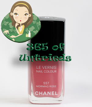chanel morning rose nail polish le vernis 365 untrieds ALUs 365 of Untrieds   Chanel Morning Rose