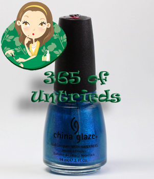 china glaze blue iguana nail polish from the island escape collection for summer 2011