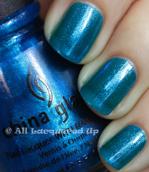 china glaze blue iguana nail polish swatch from the island escape collection for summer 2011