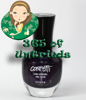 confetti happy birthday nail polish 365 untrieds ALUs 365 of Untrieds   Confetti Happy Birthday!