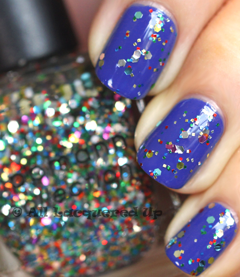 deborah lippmann happy birthday swatch layered over i know what boys like from the summer 2011 collection