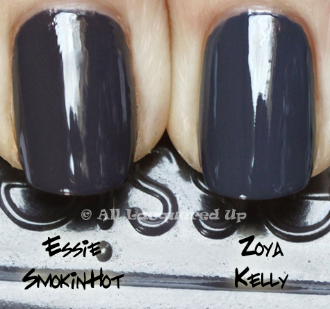 essie smokin hot comparison swatch ALUs 365 of Untrieds   Essie Smokin Hot