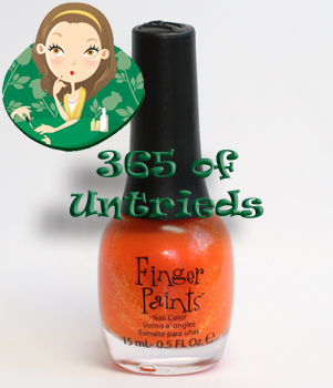 fingerpaints outta sight orange nail polish peace love color summer 2011 ALUs 365 of Untrieds   Fingerpaints Outta Sight Orange