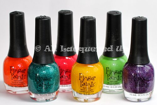 fingerpaints peace love color summer 2011 collection nail polish bottles ALUs 365 of Untrieds   Fingerpaints Outta Sight Orange