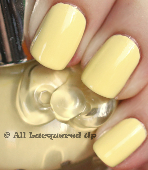 hello kitty banana cream swatch nail polish sephora sanrio ALUs 365 of Untrieds   Hello Kitty Banana Cream