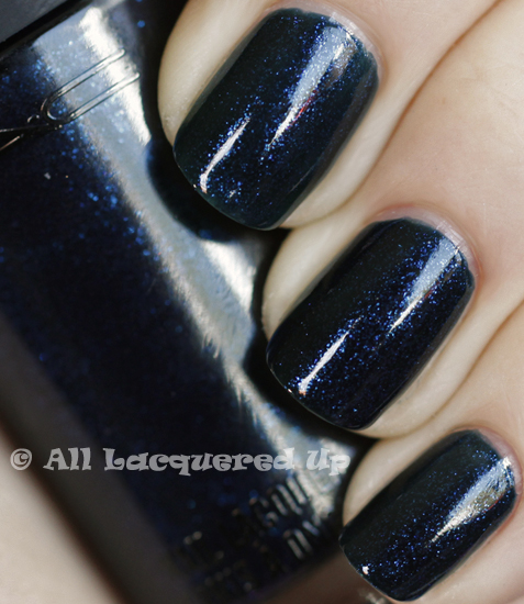 mac biker blue swatch nail polish lacquer denim spring 2011 ALUs 365 of Untrieds   MAC Biker Blue