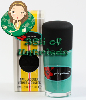 mac ocean dip nail polish surf baby collection 2011 ALUs 365 of Untrieds   MAC Ocean Dip from the Surf Baby Collection
