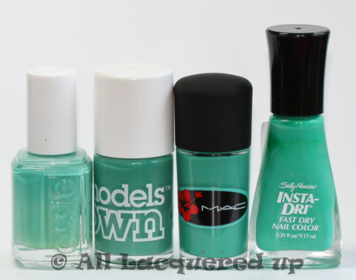 mac ocean dip surf baby nail polish comparison ALUs 365 of Untrieds   MAC Ocean Dip from the Surf Baby Collection