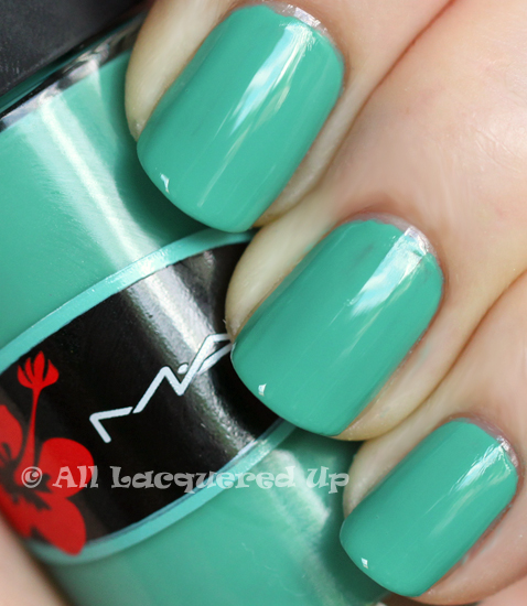 mac ocean dip swatch surf baby nail polish collection 2011