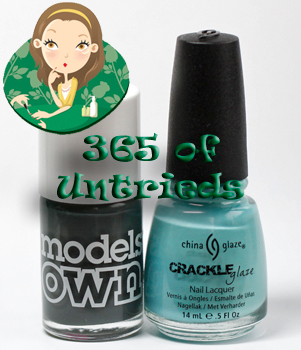 models own moody grey china glaze crackle crushed candy nail polish bottle ALUs 365 of Untrieds   Models Own Moody Grey and China Glaze Crushed Candy Crackle Glaze