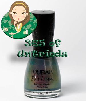 nubar indigo illusion nail polish bottle ALUs 365 of Untrieds   Nubar Indigo Illusion