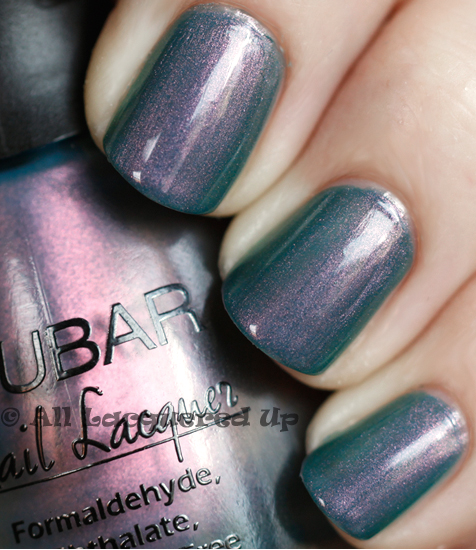 nubar indigo illusion swatch nail polish ALUs 365 of Untrieds   Nubar Indigo Illusion