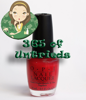 opi big hair big nails swatch texas sorbet nail polish 365 untrieds ALUs 365 of Untrieds   OPI Big Hair... Big Nails