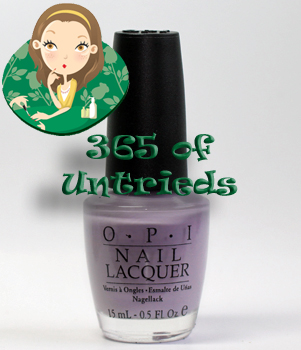 opi done out in deco nail polish south beach 2009 ALUs 365 of Untrieds   OPI Done Out In Deco