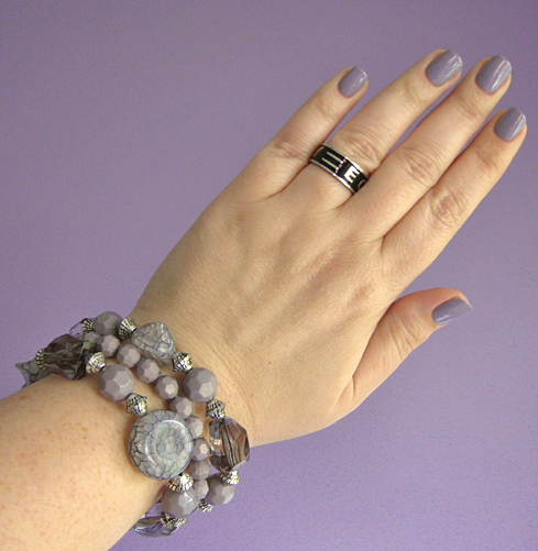 opi done out in deco nail polish swatch bracelet