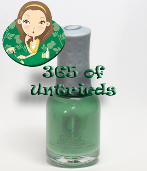 orly ancient jade nail polish 365 untrieds ALUs 365 of Untrieds   Color Block Nails with Orly Ancient Jade