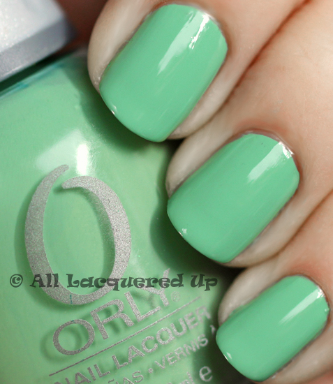 orly ancient jade swatch nail polish spring 2011 ALUs 365 of Untrieds   Color Block Nails with Orly Ancient Jade