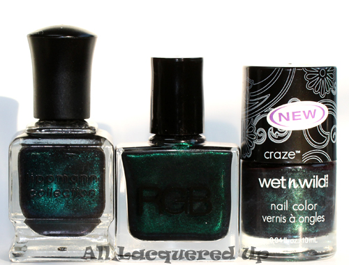 rgb sea comparison with deborah lippmann dont call me mama and wet n wild morbid
