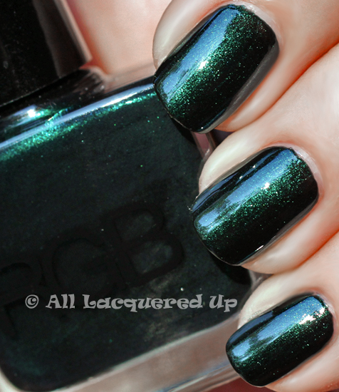 rgb sea nail polish swatch of rgb sea in the sun