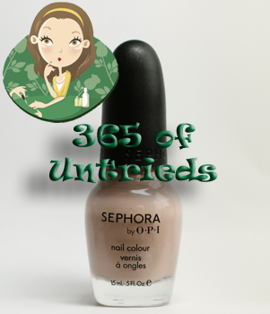 sephora by opi lets plie nail polish urban ballerina 365 untrieds ALUs 365 of Untrieds   Sephora by OPI Lets Plié