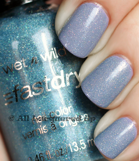 wet n wild blue wants to be a millionaire layered over opi done out in deco swatch wet n wild fastdry nail polish