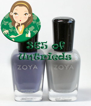 zoya caitlin dove nail polish intimate collection spring 2011 ALUs 365 of Untrieds   French Twist Manicure with Zoya Caitlin & Dove