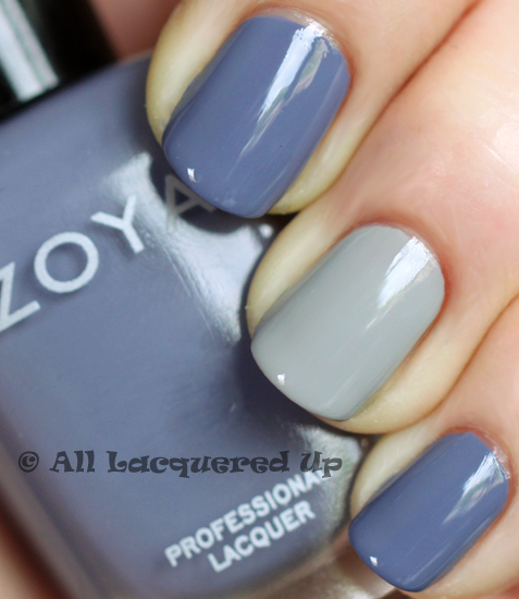 zoya caitlin dove swatch nail polish spring 2011 intimate ALUs 365 of Untrieds   French Twist Manicure with Zoya Caitlin & Dove