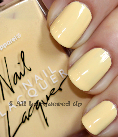 american apparel butter nail polish swatch yellow nail polish