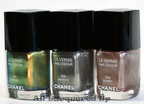 chanel fall 2011 peridot graphite quartz nail polish wm Chanel Fall 2011 Illusions d'Ombres de Chanel Nail Polish Preview