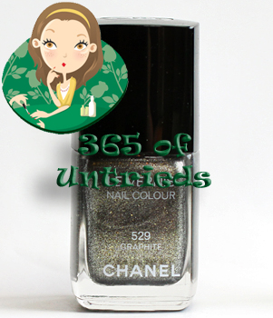 chanel graphite nail polish from the fall 2011 illusions d'ombres de chanel collection