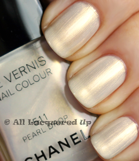 chanel pearl drop nail polish swatch from the chanel spring 2011 collection