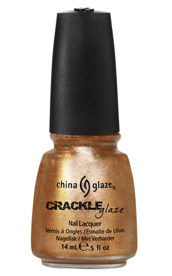china glaze CRACKED MEDALLION crackle metal nail polish