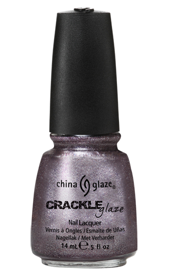 china glaze LATTICED LILAC crackle metal nail polish