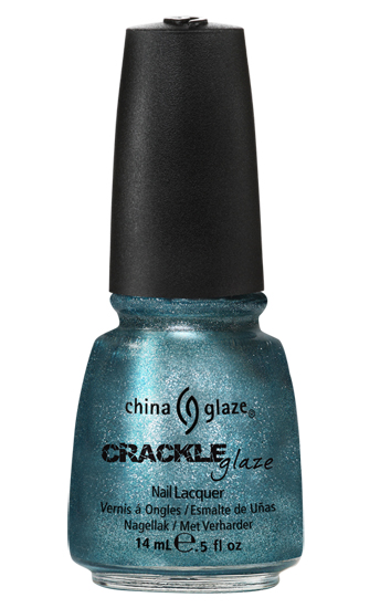 china glaze OXIDIZED AQUA crackle metal nail polish