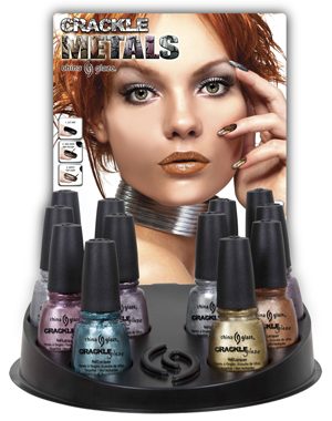 china glaze crackle metals crackle nail polish China Glaze Crackle Metals Collection Preview
