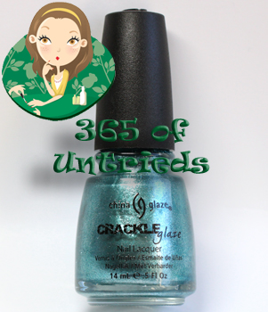 china glaze oxidized aqua nail polish crackle glaze metals ALUs 365 of Untrieds   China Glaze Oxidized Aqua Crackle Glaze Metal