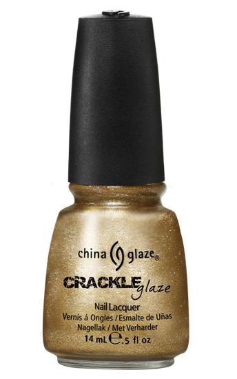 china glaze tarnished gold crackle metal nail polish