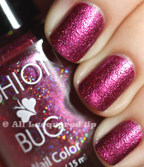 fashion bug boysenberry nail polish swatch