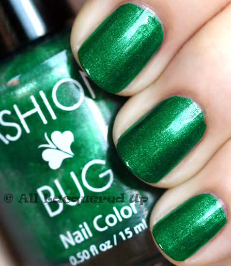 fashion bug shamrock nail polish swatch