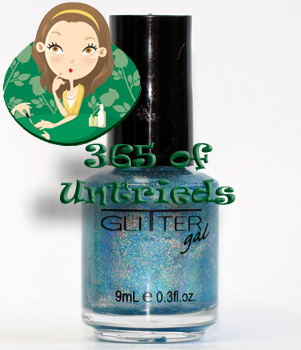 glitter gal blue holographic nail polish linear holographic prismatic