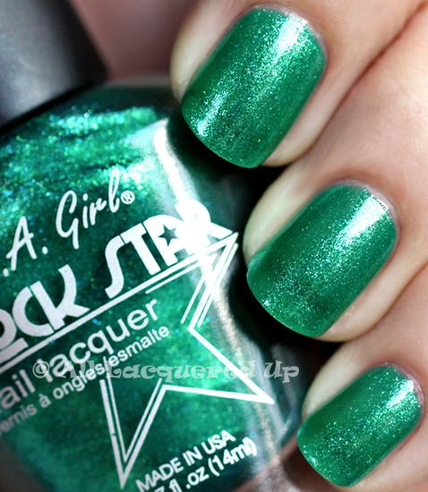la girl rock star head banging nail polish swatch