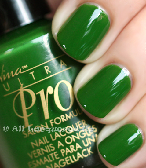 nina ultra pro salsa nail polish swatch green jelly nail polish