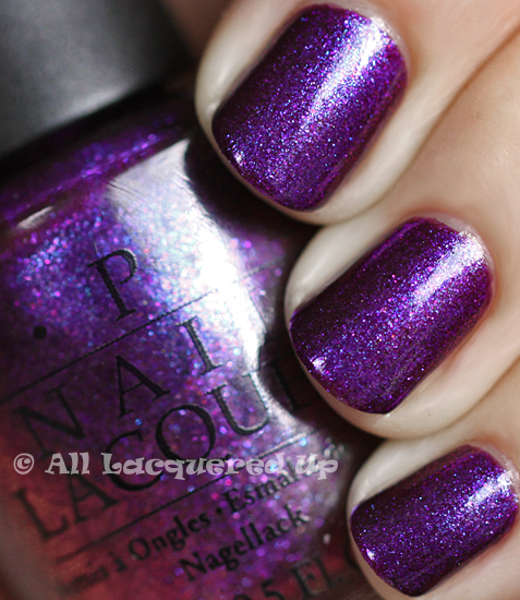 opi grape set match nail polish swatch from the opi serena glam slam england 2011 collection