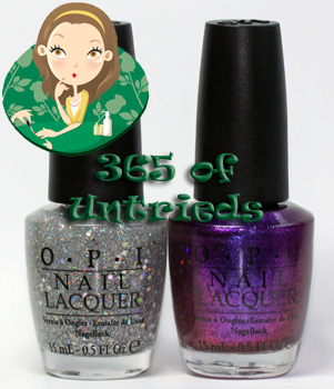 opi grape set match and servin up sparkle nail polish from the opi serena glam slam england 2011 collection