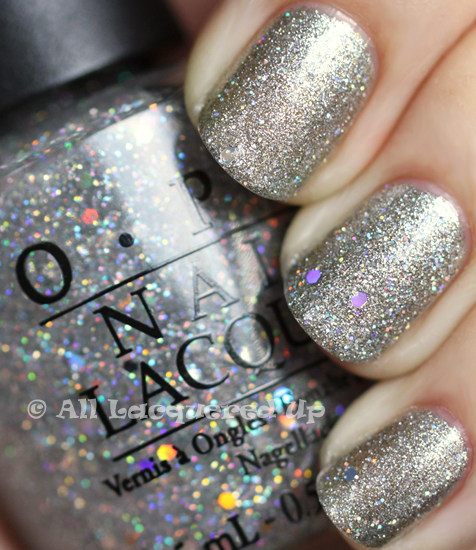 opi servin' up silver nail polish swatch from the opi glam slam! england collection for summer 2011