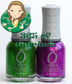 orly here comes trouble and orly bubbly bombshell nail polish from the orly pin-up collection for summer 2011