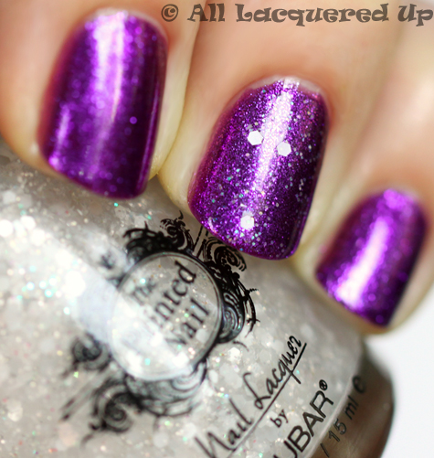 the painted nail moon drops top coat swatch by nail files star katie cazorla