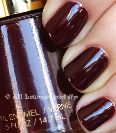 revlon vixen nail polish swatch a known chanel vamp dupe