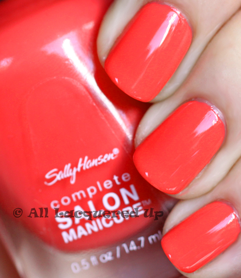 sally hansen coral fever nail polish swatch from the tracy reese for sally hansen spring 2011 collection